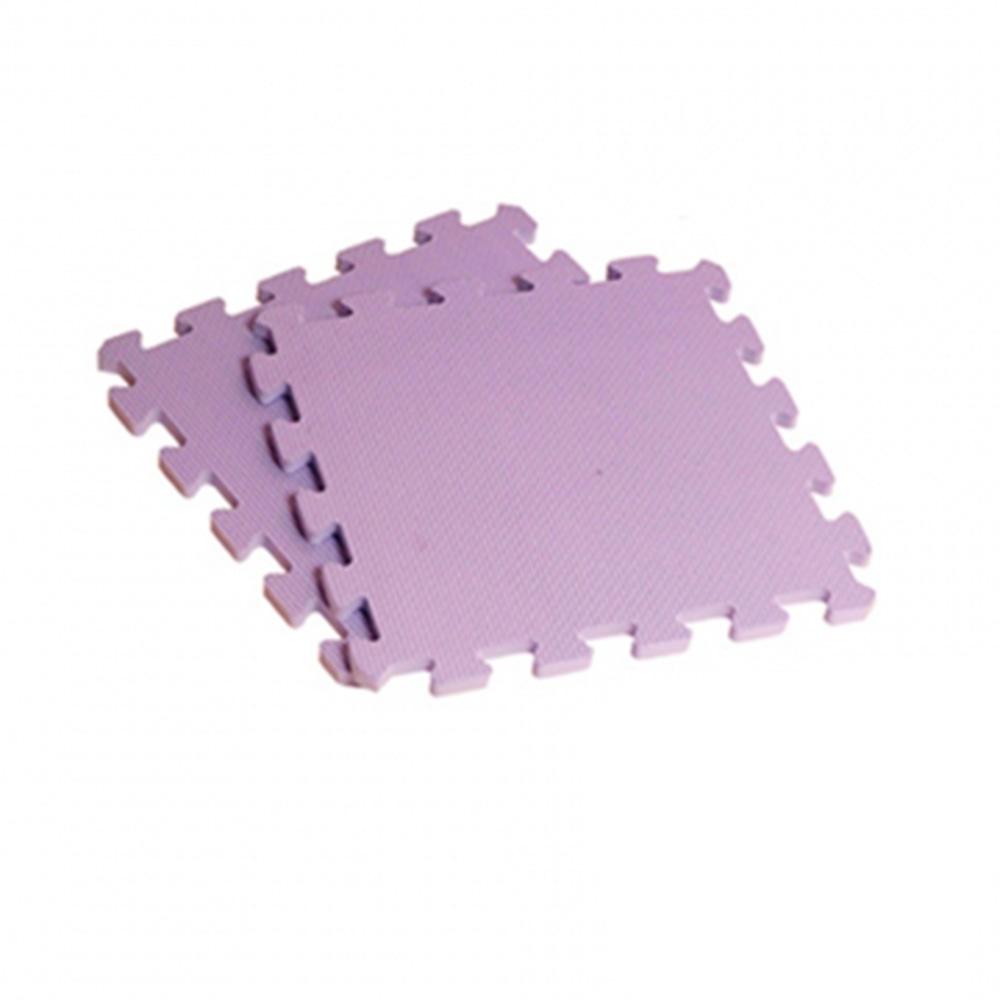 新生活家EVA素面巧拼地墊32x32x1cm-紫色8入