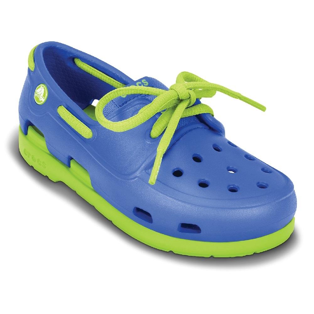 Crocs 卡駱馳(童) 海灘帆船繫帶鞋-15915-4U4