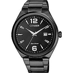 CITIZEN星辰 光動能簡約手錶(AW1375-58E)-黑/41mm
