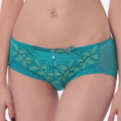 LADY 漫步香榭系列 低腰平口內褲(綺想綠)