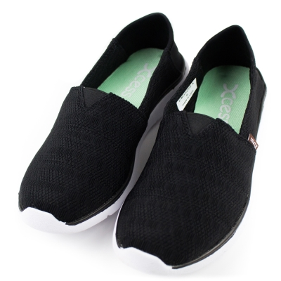 XCESS-女休閒鞋GW050BLK-編織黑