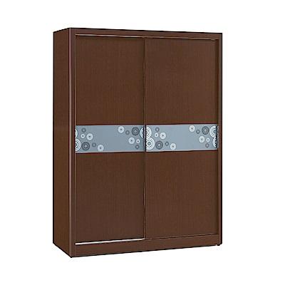 品家居 瑪琪5尺雙推門衣櫃(二色可選)-151.5x60.5x197cm免組