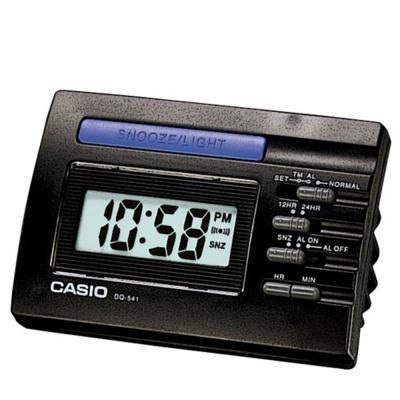 CASIO 數字小型電子鬧鐘(DQ-541-1R)-黑