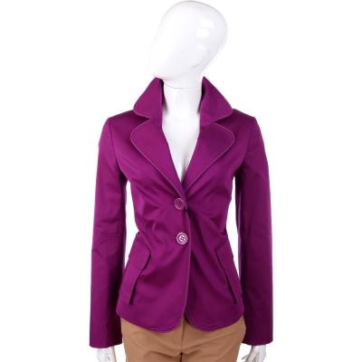 MOSCHINO 紫色雙釦式西裝外套