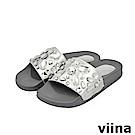 viina-璀璨寶石拖鞋-銀色