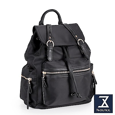 74盎司 雙帶設計束口後背包[LG-832]黑