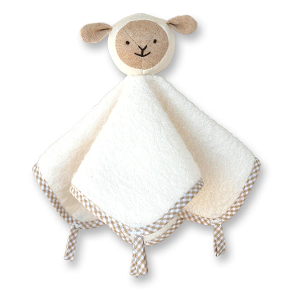 【Hoppetta*】有機綿微笑羊口水安撫巾