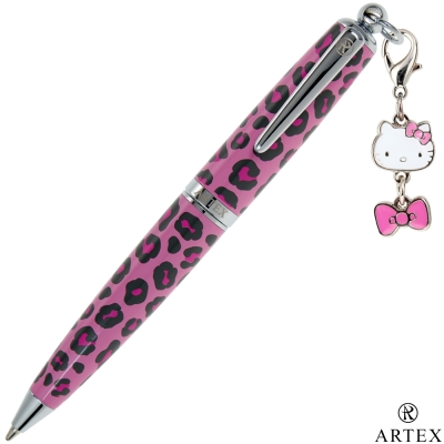 ARTEX x KITTY吊飾筆 手環禮盒組 粉紅豹紋