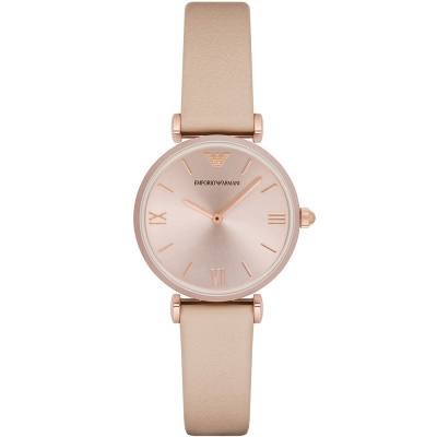 ARMANI 亞曼尼質感優雅時尚手錶-玫瑰金/32mm