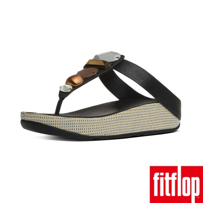 FitFlop TM-JEWELEY TM TOE-POST-黑色