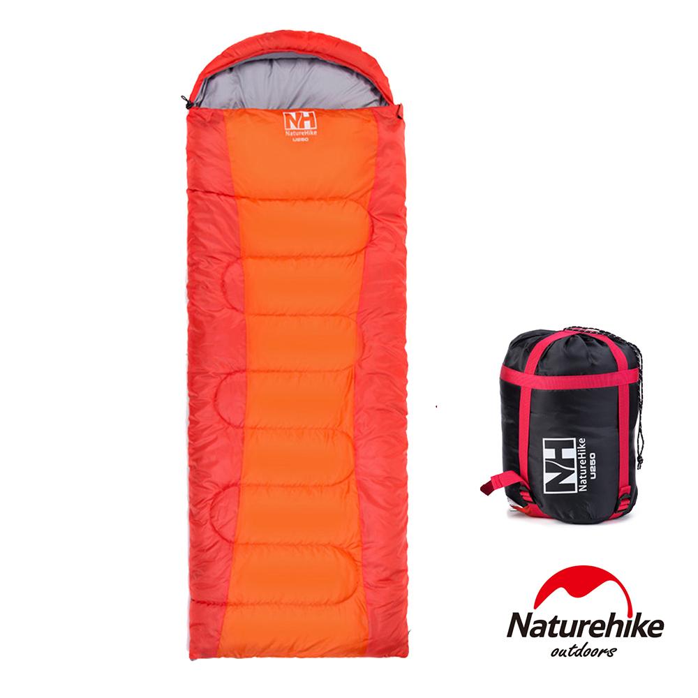 Naturehike 可拼接戶外旅行保暖睡袋 橙色