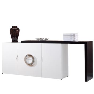 AT HOME-帕克 5 尺白色伸縮餐櫃
