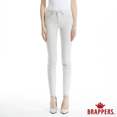 BRAPPERS 女款 AC Cargo系列-中腰彈性素面窄管褲-灰白