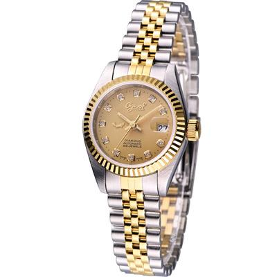 愛其華 Ogival 經典優雅機械腕錶-雙色金面/26mm