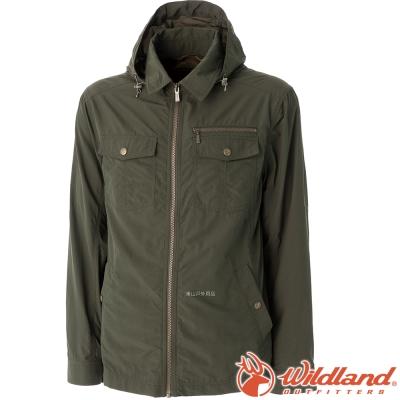 Wildland 荒野 0A51910-68綠 男 Supplex抗UV帥氣外套