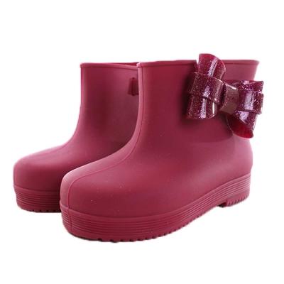 時尚設計短筒雨鞋/靴 紅 sh9872