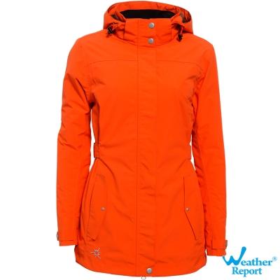 北歐Weather Report AIRTECH防水透濕保暖鋪棉外套-女款(橘)