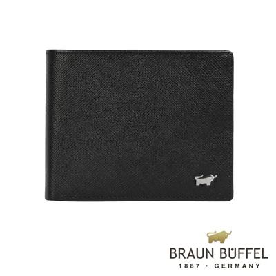 BRAUN BUFFEL - RUFINO-C洛非諾系列 4 卡零錢袋皮夾 - 黯黑