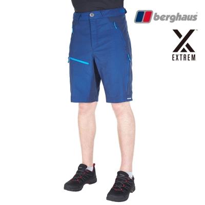 【Berghaus貝豪斯】男款防潑水快乾抗UV短褲S09M06藍