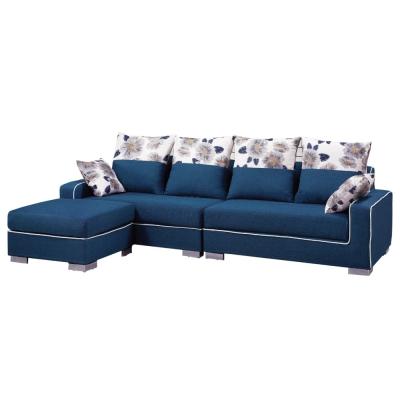 品家居 哈爾布面L型沙發(四人+凳)-265x162x69cm-免組