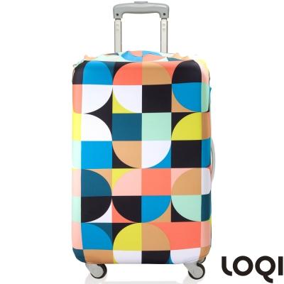 LOQI 行李箱套│-圓圈M號 適用22-27吋行李箱保護套