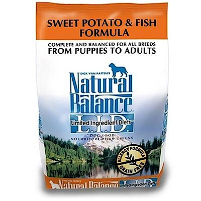 Natural Balance 低敏無穀地瓜鮭魚全犬配方 4.5磅