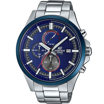 EDIFICE 賽車錶盤設計運動錶(EFV-520RR-2A)-藍/47.2mm
