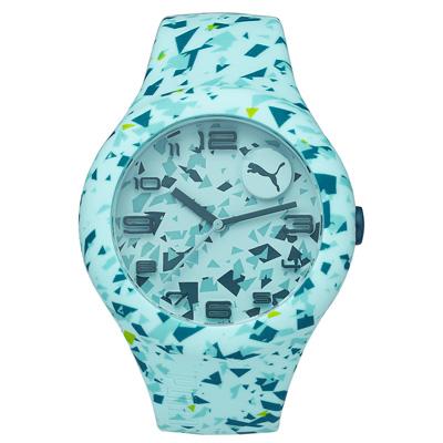 PUMA  動感延伸運動腕錶-藍色系/51mm