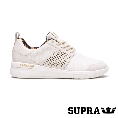 SUPRA Scissor系列女鞋-白/豹紋