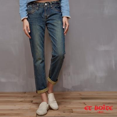 ETBOITE 箱子 BLUE WAY 顯瘦嬉皮風格男友褲