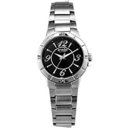 LICORNE entrée 亮彩之星時尚晶鑽腕錶-黑/32mm
