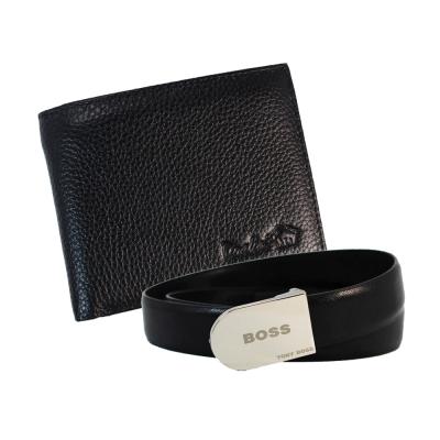 DRAKA 達卡 - 牛皮短夾+ 真皮皮帶組-41TBL3209