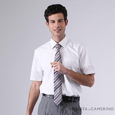 ROBERTA諾貝達 台灣製 上班族必備 速乾舒適短袖襯衫 白色