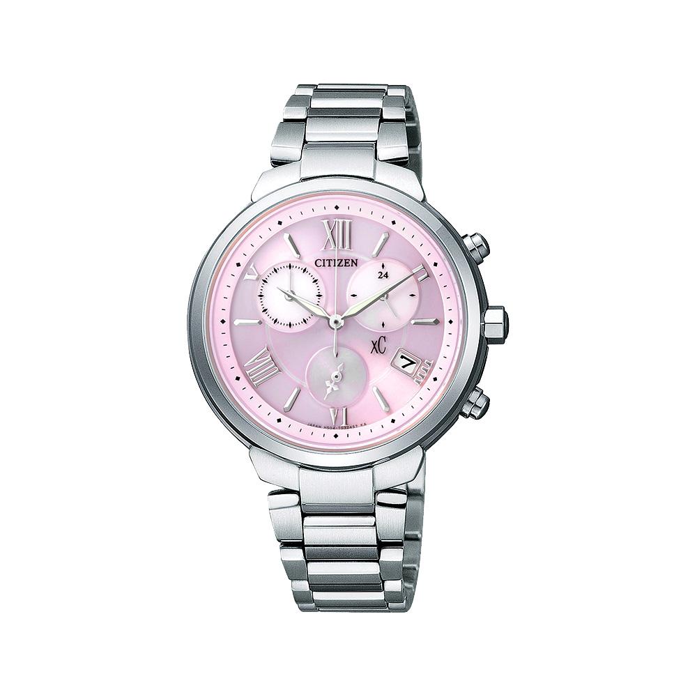 CITIZEN XC 浪漫城市鈦金屬光動能計時腕錶(FB1330-55W)-粉紅/35mm @ Y!購物