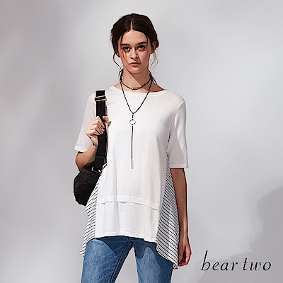 beartwo 不規則下擺垂墜造型針織衫(2色)