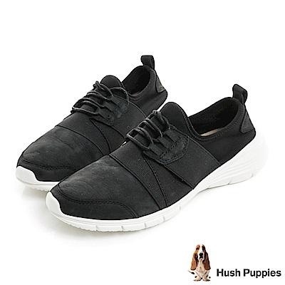 Hush Puppies CYPRESS 輕量綁帶式健走鞋-黑色