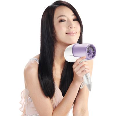 魅力紫-飛利浦溫控雙倍負離子水潤護髮吹風機HP8213