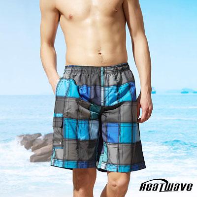 Heatwave熱浪 男海灘泳褲-紳士藍灰