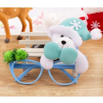 摩達客 聖誕派對造型眼鏡-藍色白熊
