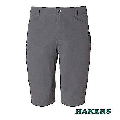 【HAKERS 哈克士】男-快乾彈性短褲(鋼鐵灰)