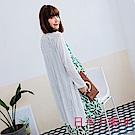 日系小媽咪孕婦裝-純色好感飄逸透膚長版罩衫/外套 (共三色)