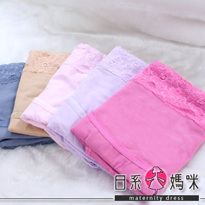 【日系小媽咪】蕾絲緹花彈力拉提孕婦內褲二件組