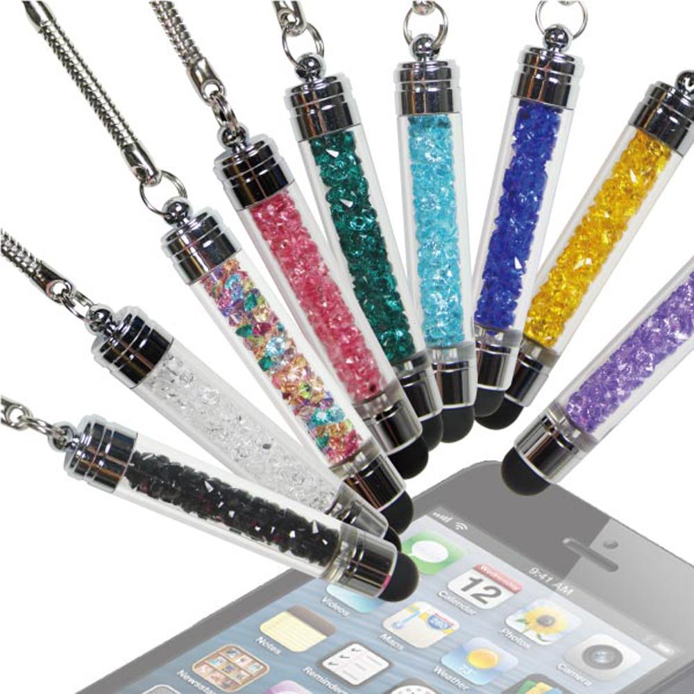 智慧型手機專用電容式水晶筆桿觸控筆-附耳機孔塞H (1+1)