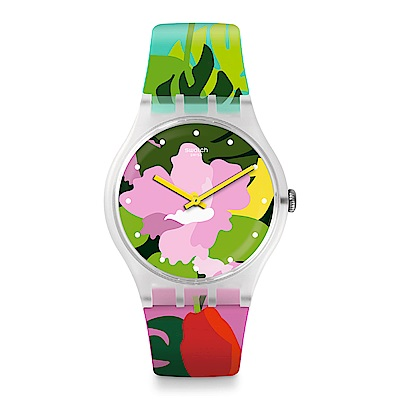 Swatch 英倫風情 TROPICAL GARDEN 熱帶花園手錶