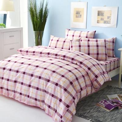 LAMINA 經典格紋-紅 四件式被套床包組(雙人)
