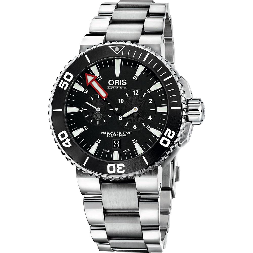 Oris Aquis 【鈦】潛水校正機械腕錶-黑/43mm