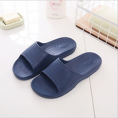 日創優品 38度Q加厚柔軟室內外拖鞋-深海藍28.5cm
