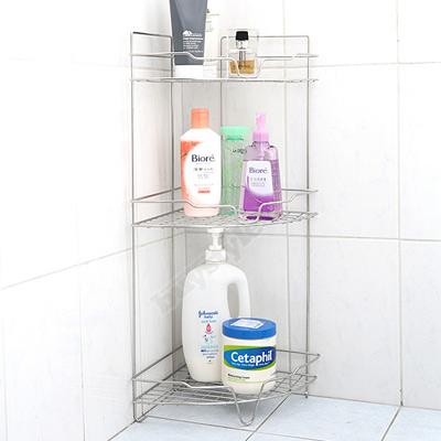 ◤台灣製◢衛浴角落專用不鏽鋼便利收納棚