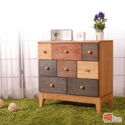 桐趣 薰衣草森林8抽實木收納櫃 W59*D32*H60 cm