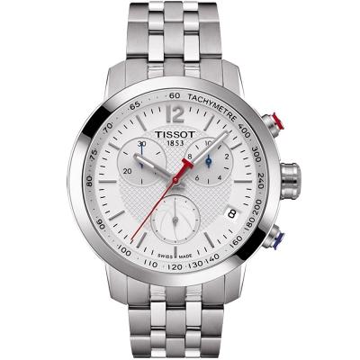 TISSOT PRC200 NBA特別版計時運動錶(T0554171101)-銀/42mm